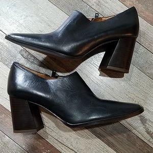 Zara Black leather heels size 37